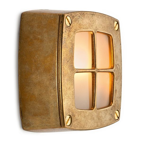 Wall light brass with lattice