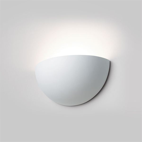 Wall lamp half shell