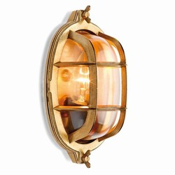 Screen light IP 55 oval plain brass