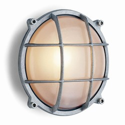 Cast aluminium screen light round