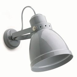Steel wall lamp large pigeon blue