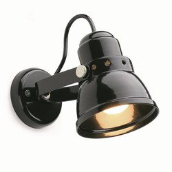 Steel wall lamp small black